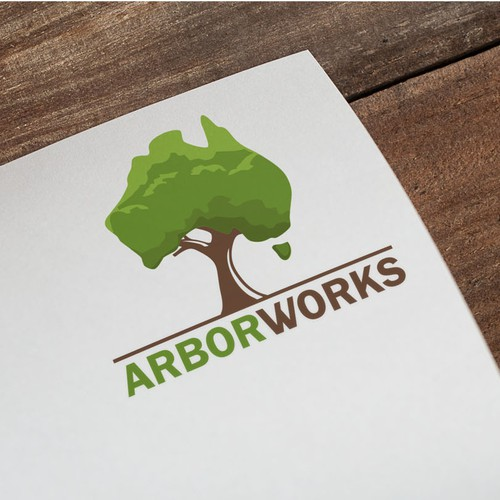 Aussie logo with the title 'Arbor Works'