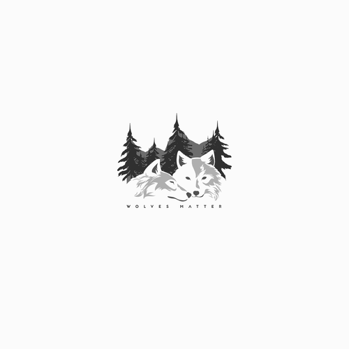 Wolf design with the title 'Wolves Matter | logo concept'