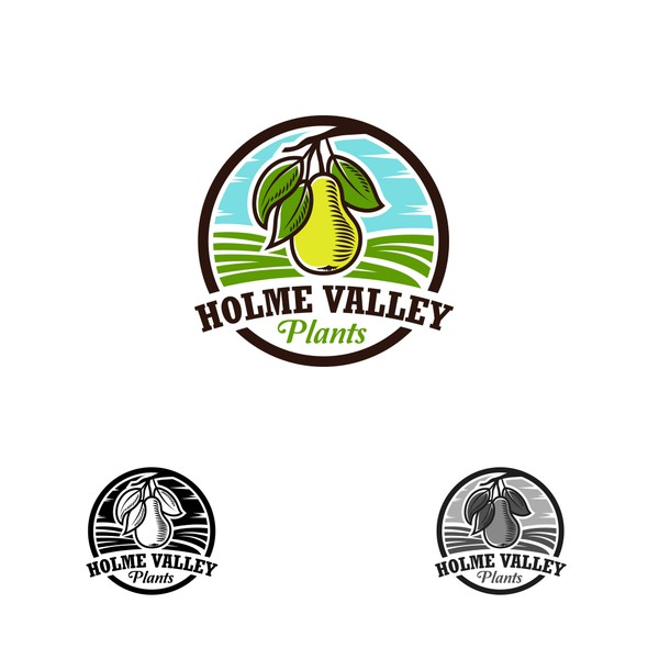 Pear design with the title 'Holme Valley'