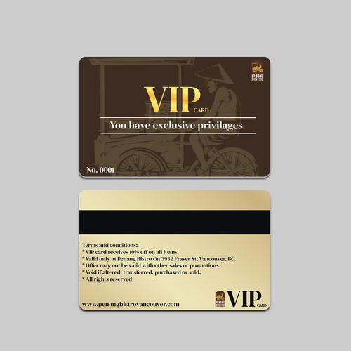 VIP design with the title 'VIP Card'