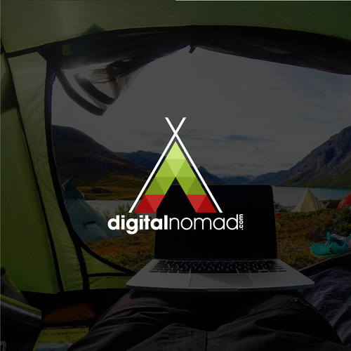Freedom design with the title 'Digital nomad'