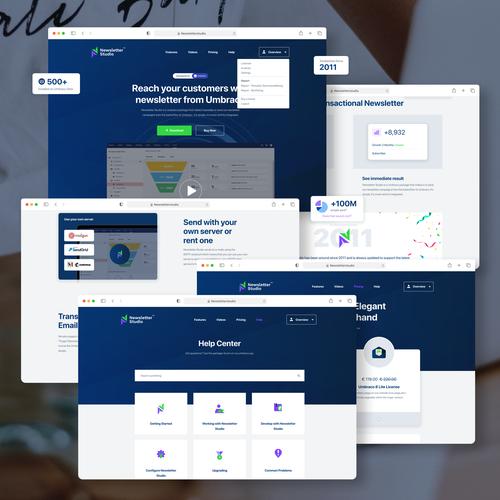 HTML design with the title 'Newsletter App Full web design'