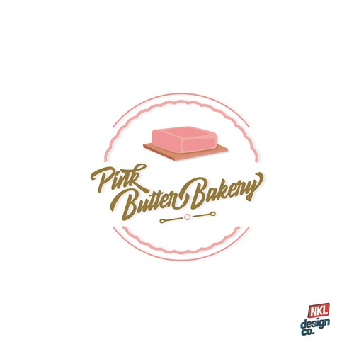 Butter logo with the title 'Pink Butter Bakery'