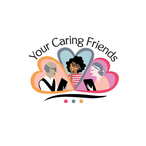 Heart design with the title 'your caring friends'