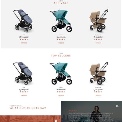 Nordic Website Design for Stroller Haus