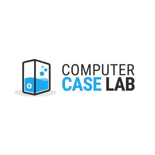 Review design with the title 'Computer case review website logo'