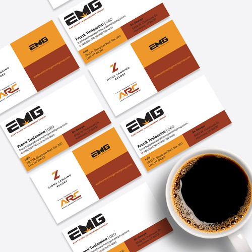 Resort design with the title 'EMG'