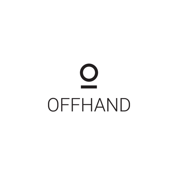 Comfortable design with the title 'logo OFFHAND Clothing'