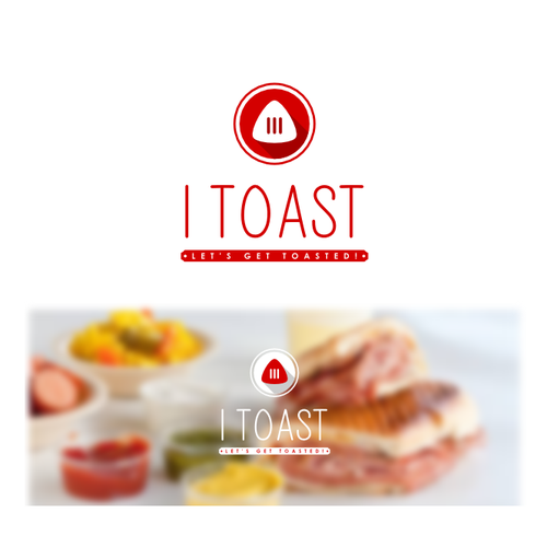 Toast design with the title 'Logo concept for a toasted sandwich restaurant'