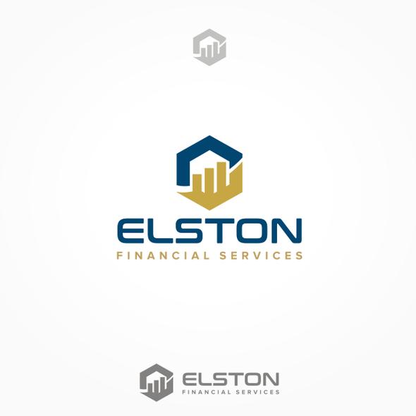 Money transfer logo with the title 'Elston Financial Services logo design'