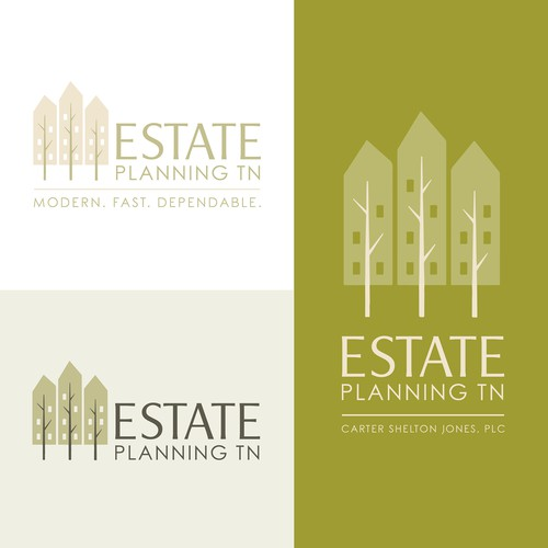 Treehouse logo with the title 'Logo Concept for an Estate Planning Law Firm'
