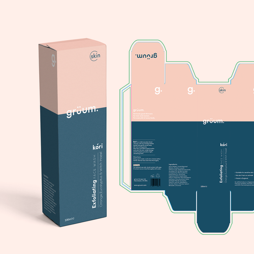 Contemporary packaging with the title 'Face Wash Design entry'