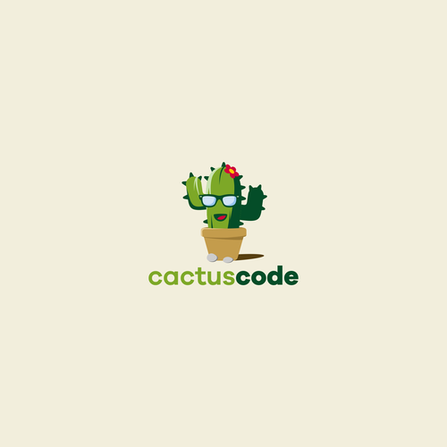 Nerd design with the title 'Cactus code'