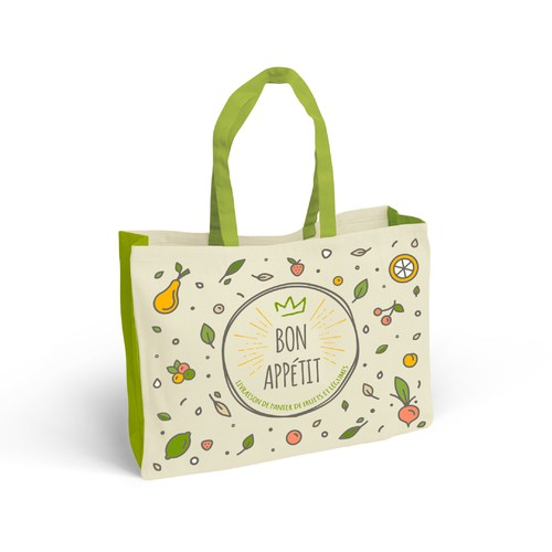 Shopping bag packaging with the title 'Tote Bag'