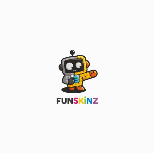 Adorable logo with the title 'FunSkinz'