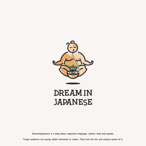 Language logo with the title 'Logo design for Dream In Japanese'