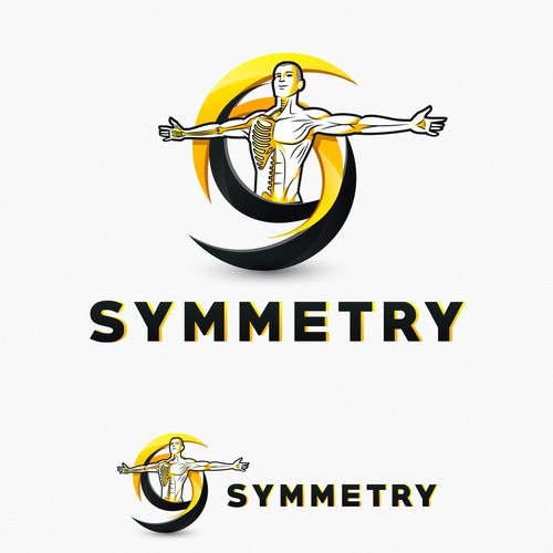 Performance design with the title 'Symmetry Logo Design'