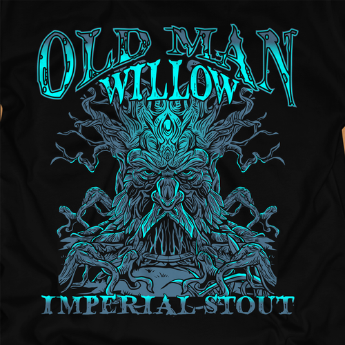 Awesome t-shirt with the title 'Brand a Beer! Old Man Willow Imperial Stout'