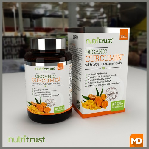 Supplement label with the title 'nutitrust'