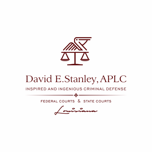 Pelican design with the title 'David E.Stanley , APLC'