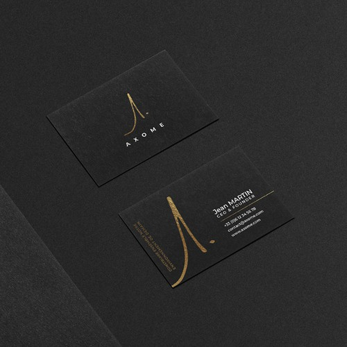 French brand with the title 'Axome - Logo & Identité visuelle'