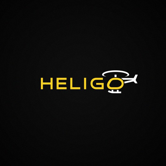Helicopter design with the title 'Heligo'