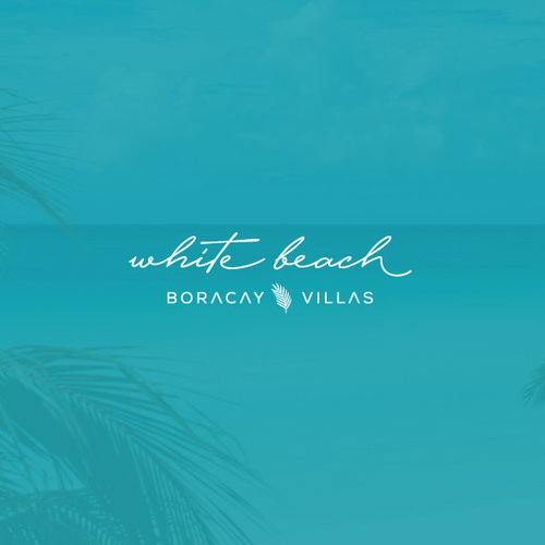 Palm tree logo with the title 'Simple elegant logo'