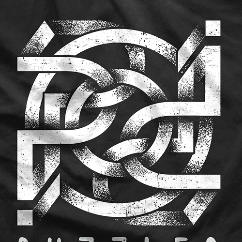 Puzzle design with the title 'Puzzled Optical illusion T-Shirt'