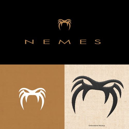 Pharaoh logo with the title 'Nemes Logo Design'
