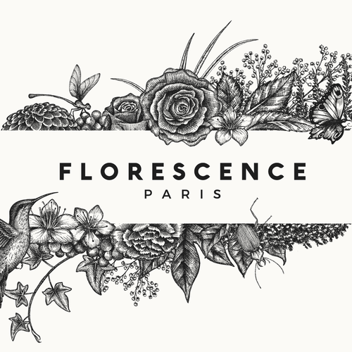 Luxurious logo with the title 'Logo design for Florescence Paris'