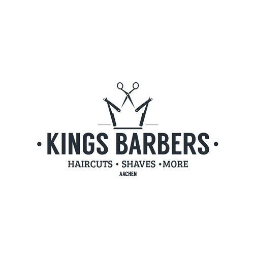 Scissors logo with the title 'Logo for Kings Barbershop'