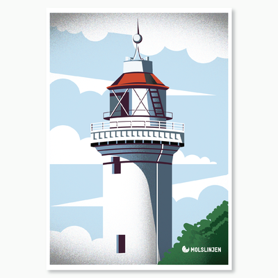 Danish Light Tower called Helgenæs illustration