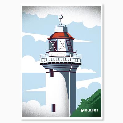 Danish Light Tower called Helgenæs illustration