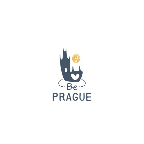 Bridge logo with the title 'Logo concept for luxury apartment rental in Prague'