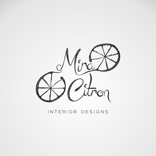 Interior design logo with the title 'Mira Citron - Interior Designer'