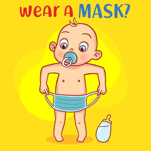 Toddler design with the title 'Do I have to wear a mask'
