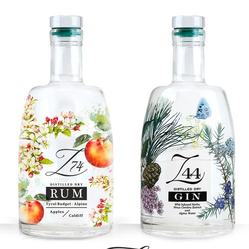 Rum label with the title 'Label Rum Z 74'