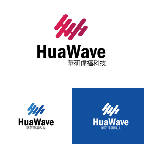 Chinese brand with the title 'HuaWave digital logo'