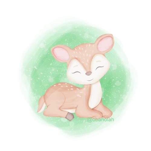 Deer illustration with the title 'Sweet Deer '