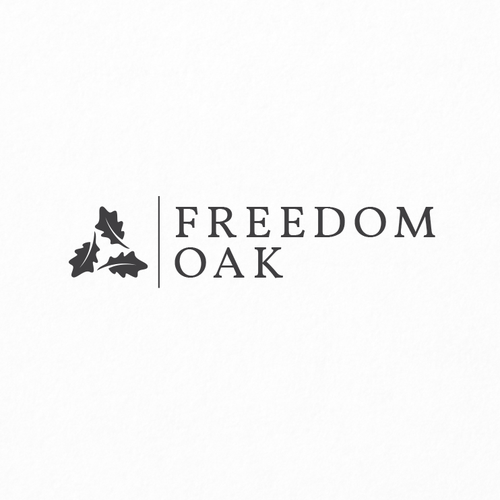 Signage logo with the title 'Freedom Oak'