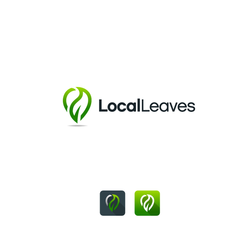 Local design with the title 'Logo Design for Local Leaves'
