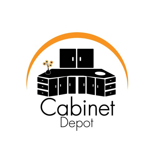 Cabinet logo with the title 'Logo Concept for Cabinet Depot'