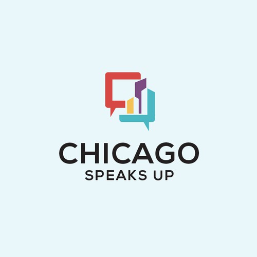 Chicago logo with the title 'Chicago Speaks Up'