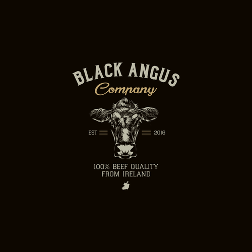Beef logo with the title 'Black Angus Company'