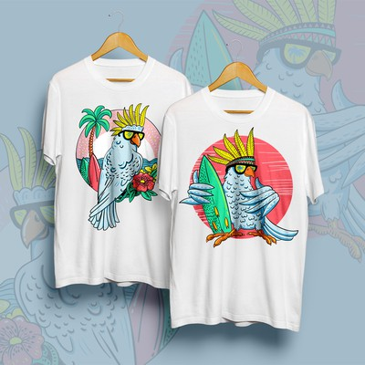 """Itchy Feather"" T-shirts"