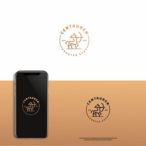 Premium logo with the title 'Centaur logo'