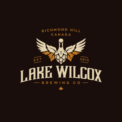 Brewery logo with the title 'Lake Wilcox Brewing Co'