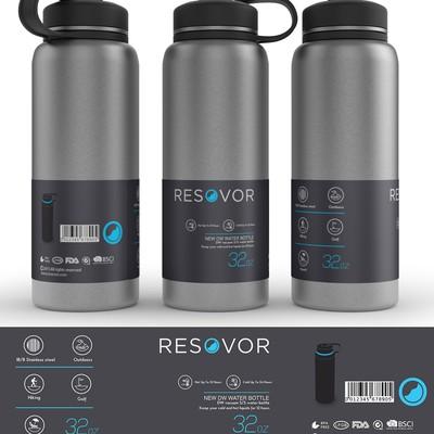 酷标签设计水瓶