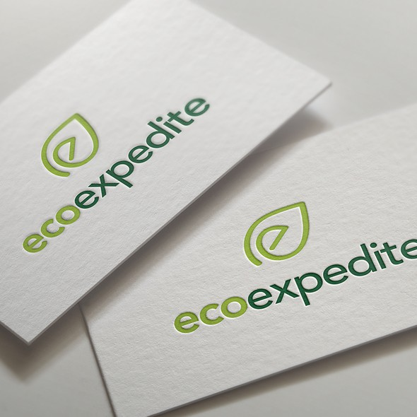 Eco logo with the title 'Logo design'