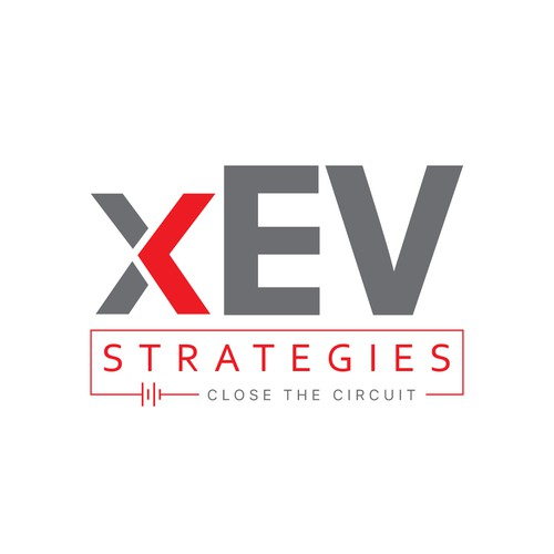 Circuit logo with the title 'xEV Strategies logo design'